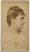 Miss Williamson, from the Actors and Actresses series (N145-8) issued by Duke Sons & Co. to promote Duke Cigarettes