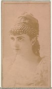 [Actress wearing ornate cap], from the Actors and Actresses series (N145-8) issued by Duke Sons & Co. to promote Duke Cigarettes