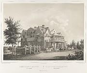 Le Cottage D'Alexandrie près de Péterof, from the series Vues pittoresques des palais & jardins impériaux aux environs de St. Petersbourg