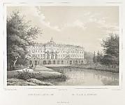 Le Palais à Strelna, from the series Vues pittoresques des palais & jardins impériaux aux environs de St. Petersbourg