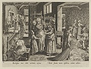 """The Silkworm Eggs Spread Out On Shelves, Plate 4 from """"The Introduction of the Silkworm"""" [Vermis Sericus]"""
