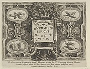 """Title Plate from """"The Introduction of the Silkworm"""" [Vermis Sericus]"""