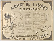 Design for a Poster for the Book Vendor Marcel Cassé