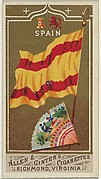 Spain, from Flags of All Nations, Series 1 (N9) for Allen & Ginter Cigarettes Brands