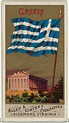 Greece, from Flags of All Nations, Series 1 (N9) for Allen & Ginter Cigarettes Brands