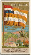 Orange Free State, from Flags of All Nations, Series 2 (N10) for Allen & Ginter Cigarettes Brands