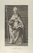Saint Andrea Corsini dressed as Bishop of Fiesole, holding a crosier and looking up, after Reni