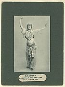 Plate 5, from Little Egypt Actresses series (T2), issued by Monopole Tobacco Works to promote Khedive Egyptian Cigarettes