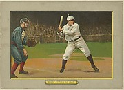 """John Tortes """"Chief"""" Myers at Bat, Catcher, New York Giants (National League), from Turkey Red Cabinets (T3)"""