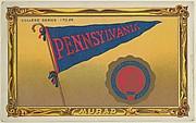 University of Pennsylvania, version two, part of the College Series cabinet cards (T6)