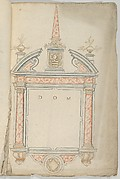 Design for an Epitaph in Red Marble, surmounted by an Obelisk