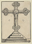A Silver-Gilt Cross with Christ Crucified, from the Wittenberg Reliquaries