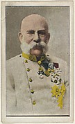 Card No. 4, Emperor Franz Joseph of Austria, from the World War I Scenes series (T121) issued by Sweet Caporal Cigarettes