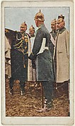 Card No. 24, Kaiser Wilhelm and his Staff Directing the German Troops, from the World War I Scenes series (T121) issued by Sweet Caporal Cigarettes