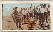 Card No. 51, Bread for the British Soldiers in France, from the World War I Scenes series (T121) issued by Sweet Caporal Cigarettes
