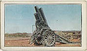 Card No. 80, The Great Krupp Siege Guns Used by Germans to Bombard Cities, from the World War I Scenes series (T121) issued by Sweet Caporal Cigarettes