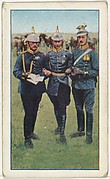 Card No. 93, German Crown Prince and Personal Staff, from the World War I Scenes series (T121) issued by Sweet Caporal Cigarettes