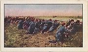 Card No. 109, French Infantry in Action Against the Germans, from the World War I Scenes series (T121) issued by Sweet Caporal Cigarettes