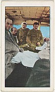 Card No. 186, Wounded British Sailors in a London Motor Bus in Belgium, from the World War I Scenes series (T121) issued by Sweet Caporal Cigarettes