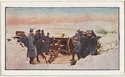 Card No. 247, Austrian Field Battery Protecting a Pass in Galicia, from the World War I Scenes series (T121) issued by Sweet Caporal Cigarettes