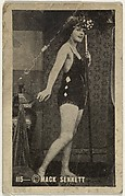 Card 115, Bathing beauty holding mask to face, from the Movie Stars series (T124), issued by John J. Bagley & Co. to promote Buckingham Cigarettes