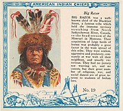 Card No. 19, Big Razor, from the Indian Chiefs series (T129) issued by Red Man Chewing Tobacco