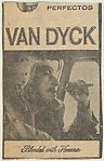 Newspaper ad for Van Dyck Cigars (airplane pilot smoking cigar), from the Smoker Portraits series (T134) to promote Van Dyck Cigars