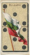 Bulgaria, from the National Flag on Domino series (T177) issued by Kinney Brothers to promote Sweet Caporal Cigarettes