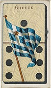Greece, from the National Flag on Domino series (T177) issued by Kinney Brothers to promote Sweet Caporal Cigarettes