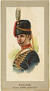 Royal Horse Artillery, England, from the Military Uniforms series (T182) issued by Abdul Cigarettes