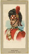 Highlander, 42nd Regiment, England, from the Military Uniforms series (T182) issued by Abdul Cigarettes