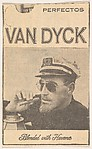 Newspaper ad for Van Dyck Cigars (bearded man in ship captain's cap), from the Smoker Portraits series (T134) to promote Van Dyck Cigars