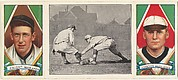"""""""Knight Catches a Runner,"""" with Walter Johnson and Jack Knight, from the series Hassan Triple Folders (T202)"""