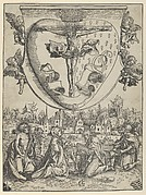 Four Saints Adoring Christ Crucified on the Sacred Heart