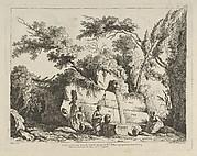 Titlepage from Differentes vues dessiné d'après nature... dans les environs de Rome et de Naples
