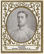 Coombs, Pitcher, Athletics, American League, from the Baseball Players (Ramlys) series (T204) issued by the Mentor Company to promote Ramly and T.T.T. Turkish Cigarettes