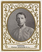 Fromme, Pitcher, Cincinnati, National League, from the Baseball Players (Ramlys) series (T204) issued by the Mentor Company to promote Ramly and T.T.T. Turkish Cigarettes