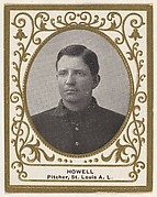 Howell, Pitcher, St. Louis, American League, from the Baseball Players (Ramlys) series (T204) issued by the Mentor Company to promote Ramly and T.T.T. Turkish Cigarettes