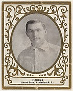 Nichols, Shortstop, Athletics, Athletic League, from the Baseball Players (Ramlys) series (T204) issued by the Mentor Company to promote Ramly and T.T.T. Turkish Cigarettes