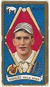 """Harry Krause, Philadelphia, American League, from the """"Baseball Series"""" (Gold Borders) set (T205) issued by the American Tobacco Company"""
