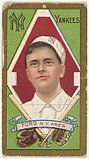"""Russell Ford, New York Yankees, American League, from the """"Baseball Series"""" (Gold Borders) set (T205) issued by the American Tobacco Company"""
