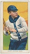 Duffy, Chicago, American League, from the White Border series (T206) for the American Tobacco Company