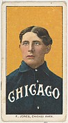 F. Jones, Chicago, American League, from the White Border series (T206) for the American Tobacco Company