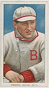 Herzog, Boston, National League, from the White Border series (T206) for the American Tobacco Company