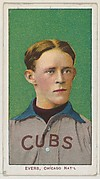 Evers, Chicago, National League, from the White Border series (T206) for the American Tobacco Company