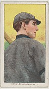 Schulte, Chicago, National League, from the White Border series (T206) for the American Tobacco Company