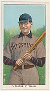 F. Clarke, Pittsburgh, National League, from the White Border series (T206) for the American Tobacco Company
