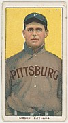 Gibson, Pittsburgh, National League, from the White Border series (T206) for the American Tobacco Company