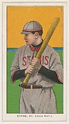 Evans, St. Louis, National League, from the White Border series (T206) for the American Tobacco Company