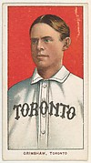 Grimshaw, Toronto, Eastern League, from the White Border series (T206) for the American Tobacco Company